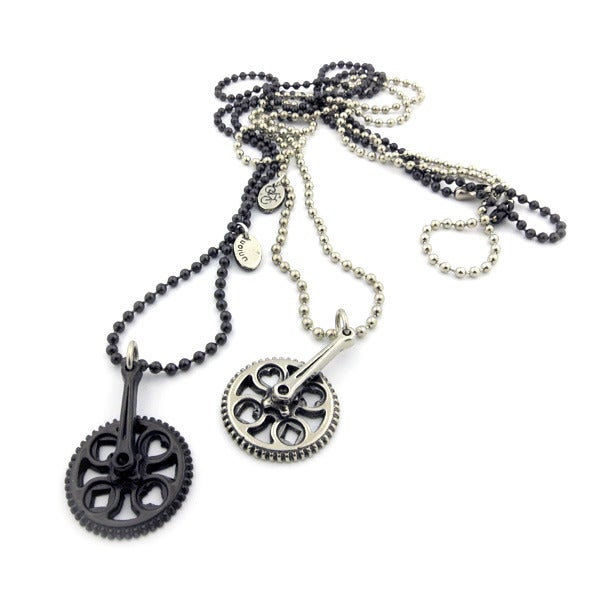 Image of CRANK-SET CHARM NECKLACE