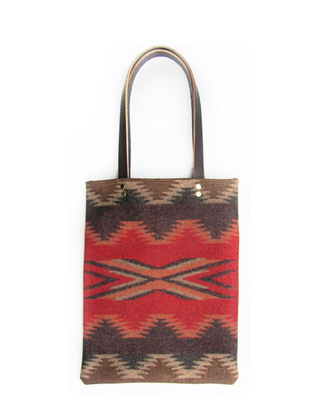 Image of Red Chinle Southwestern Pendleton Wool Tote