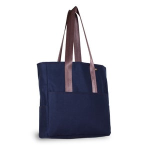 Image of Pocket Tote - Navy Canvas