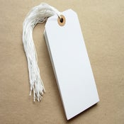 Image of Large White Shipping Tags - Set of 10