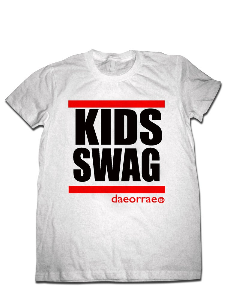 Image of big KIDS Swag T-Shirt- WHITE