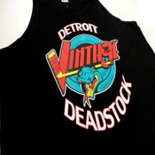 Image of Detroit Deadstock Vintage Vipers Logo Flip Black Tank Top Shirt