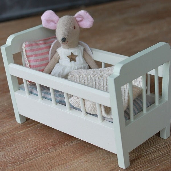 Image of White Wooden Cot Crib
