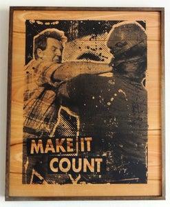 Image of Make It Count Black on Wood