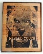 Image of Misled Youth Black on Wood