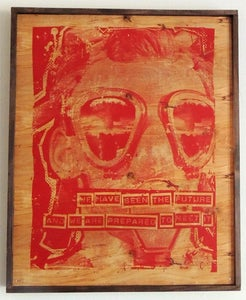 Image of We Have Seen The Future Red on Wood