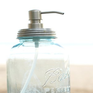 Image of Lid and Stainless Pump for your Mason Jar Soap Dispenser