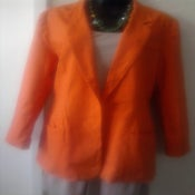 Image of Linen Orange Vintage Blazer sz 14