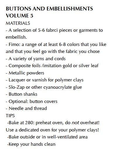 "Image of MP4: ""Buttons and Embellishments in Polymer"" Mastering the New Clay volume 5"