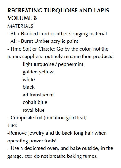 """Image of MP4: """"Recreating Turquoise and Lapis in Polymer"""" Mastering the New Clay DVD volume 8"""
