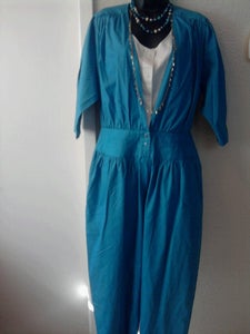 Image of Vintage Blue Jumpsuit sz 14