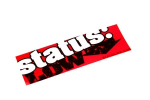Image of Bold  Status: Low  Bumper Sticker - Red