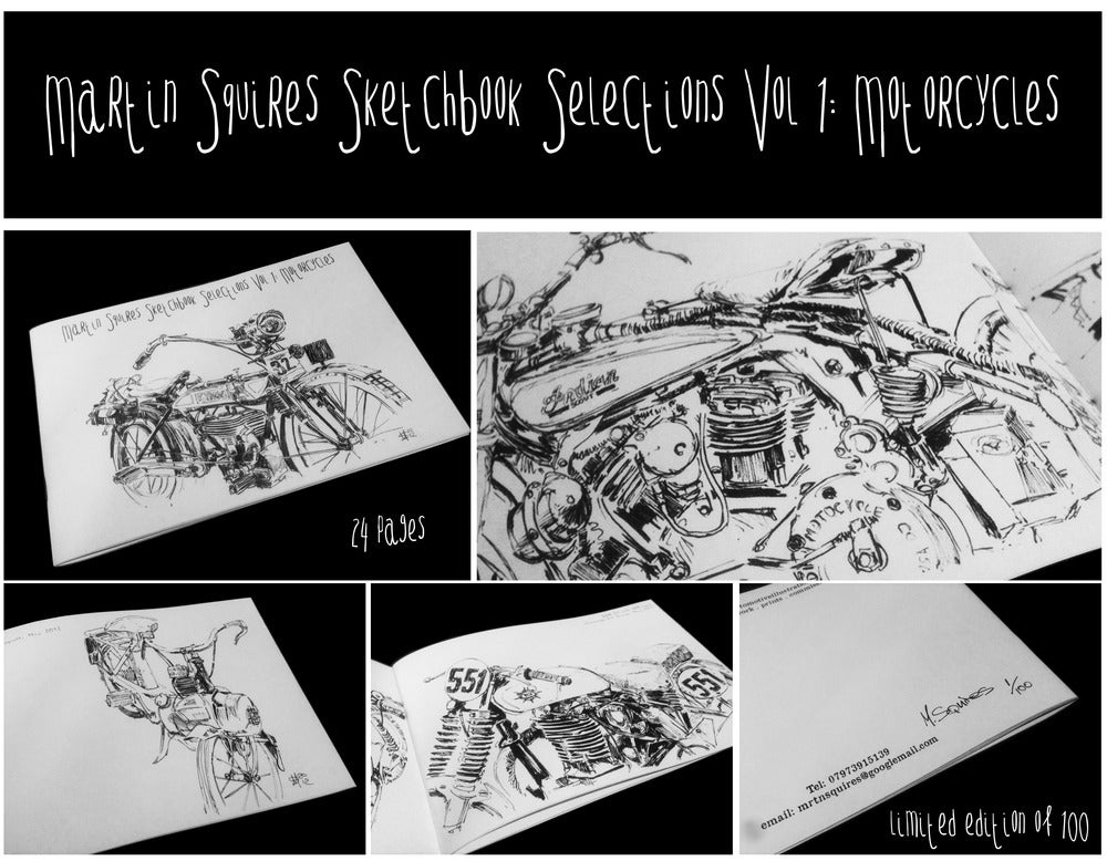 Image of Sketchbook Selections Vol 1: Motorcycles