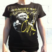 Image of Against Me! - Black Me Out Womens T-Shirt