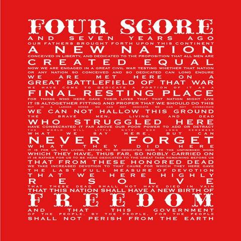 Image of Gettysburg Address-Firework