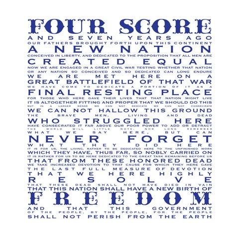 Image of Gettysburg Address-Free
