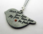 Image of Engraved Little Bird Necklace