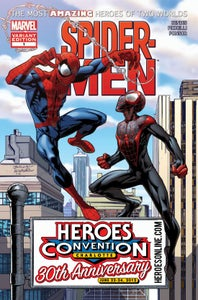 Image of SPIDER-MEN #1 :: HEROESCON 30th ANNIVERSARY VARIANT
