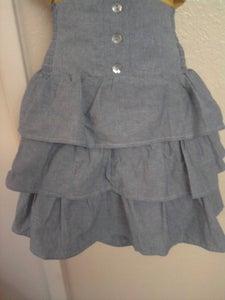Image of Brand New Torrid High Waist Light Wash Denim Ruffle Tiered Skirt 1X