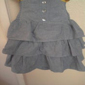 Image of Brand New Torrid High Waist Light Wash Denim Ruffle Tiered Skirt 1X