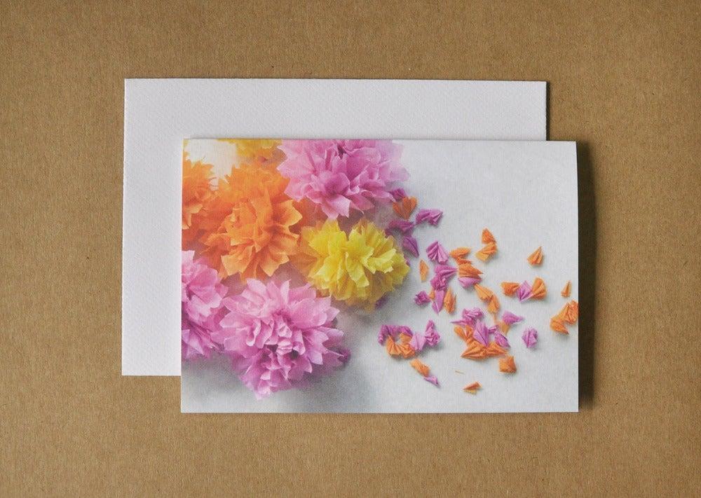 Image of crepe flower melange card