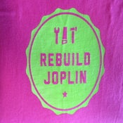 Image of Rebuild Joplin Tee-Pink and Green Crew Neck