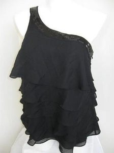 Image of Brand New Lane Bryant Sequin Detail Tiered Top