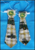 Image of reversible ties with John deere fabric
