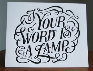 Image of Your Word Is A Lamp - Letterpress