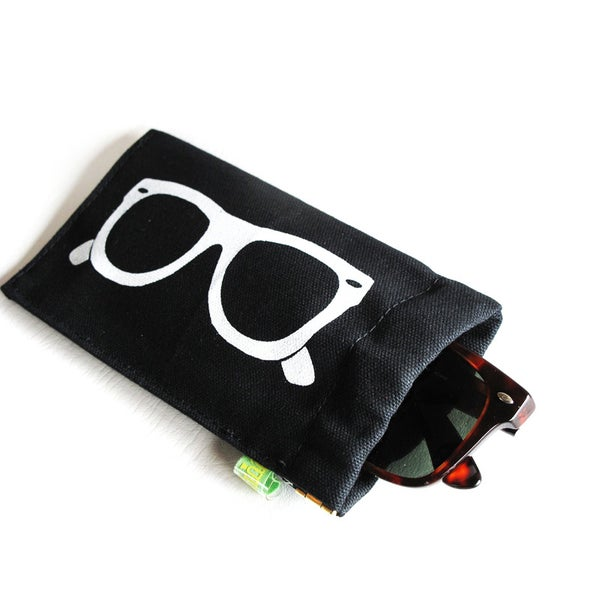 Image of Classic Frames ) Squeeze Eyeglass Case Slash Sunglass Case