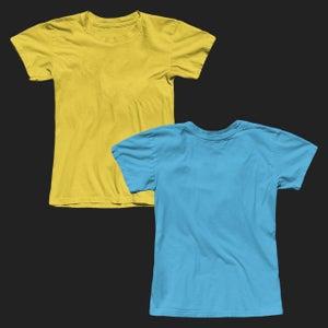 Image of Girly Crew Neck Tee Shirt Mockup
