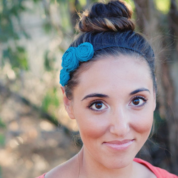 Image of large three musketeers rosette headband {choose your color}