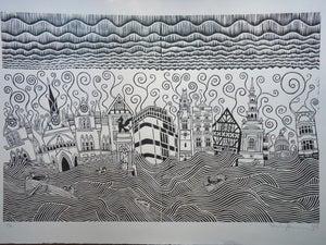 Image of Large Stanley Donwood's Fleet Street Apocalypse