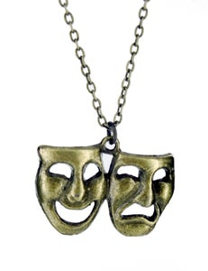 Image of Comedy Tragedy Mask Necklace - Colour Options Available