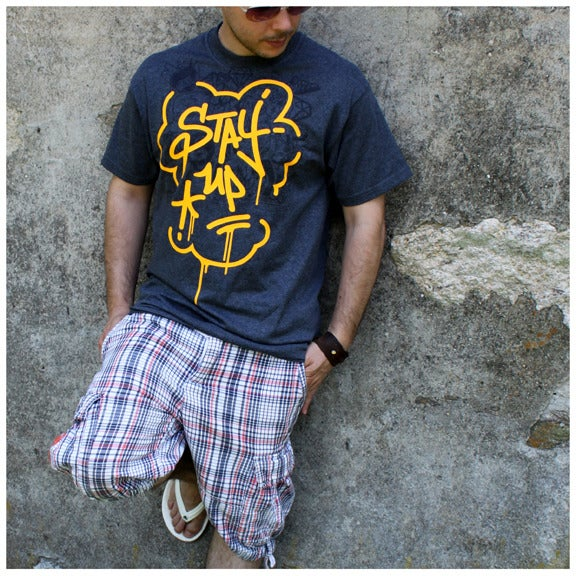 Image of Stay Up Tee (Charcoal)