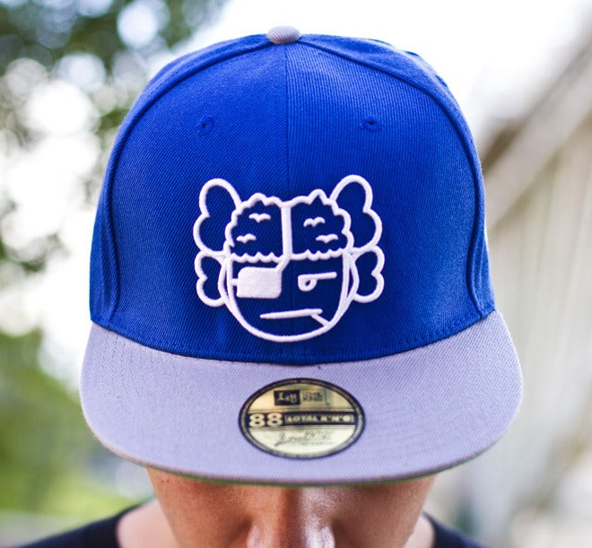 Image of Atama Logo Blue/Grey Snapback Cap #04 (Limited Edition of 30 hats)