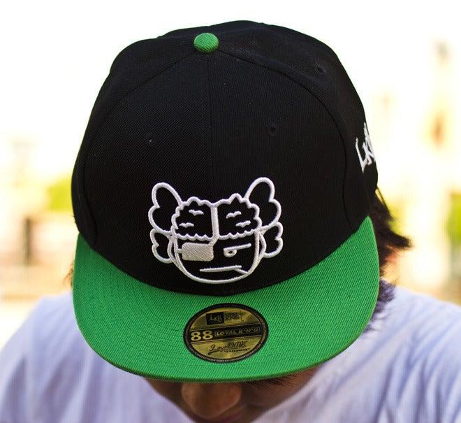Image of Atama Logo Black/Green Snapback Cap #05 (Limited Edition of 30 hats)
