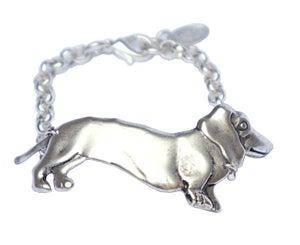 Image of Sausage dog bracelet silver