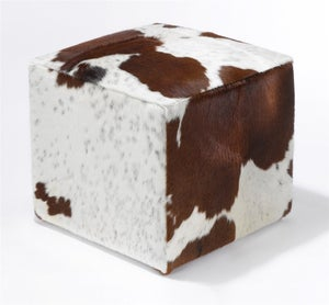 Image of Ottomans Mecina Brown & White