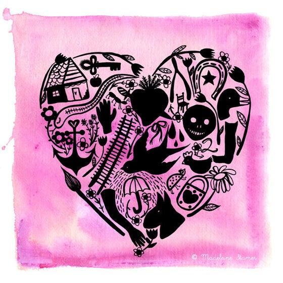 Image of Milagro Heart Print