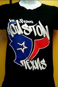 Image of Im From Houston Texas Women's Baby Tee