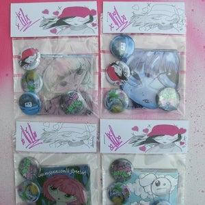 Image of supa lil sticker n badge packs!!