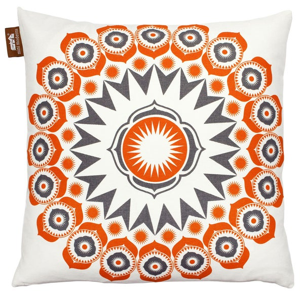 Image of Darjeeling Cushion - Tangerine Dream