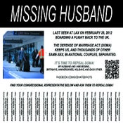Image of 25 MISSING HUSBAND POSTERS > FREE + FREE STICKER