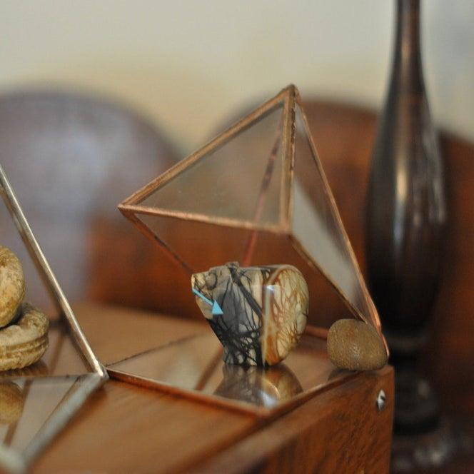 Image of Glass Pyramid Display Box, small