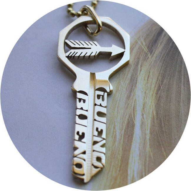 Image of KEY NECKLACE /// MY WAY