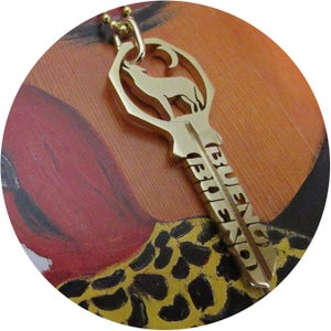 Image of KEY NECKLACE /// LONE WOLF