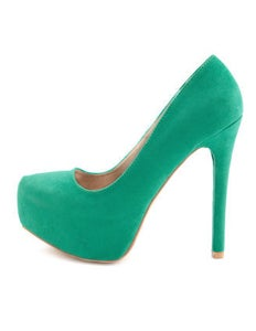 Image of Brand New Green Heels Sz 8 FREE SHIPPING