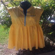 Image of Vintage Yellow Swing Dress Medium