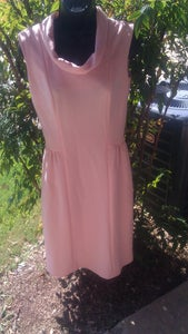 Image of Vintage 50's Pink Shift Dress Size Medium Or Small